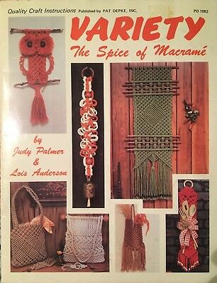 Variety - The Spice of Macrame' vintage 1978 pattern booklet earrings purse
