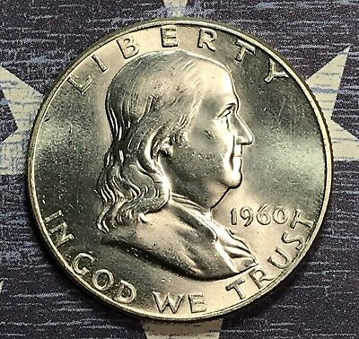 1960 Franklin Silver Half Dollar. Collector Coin For Your Set Or Collection