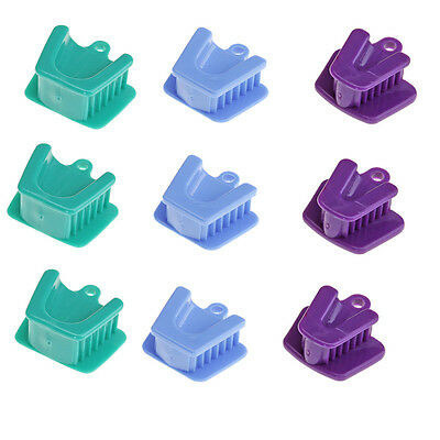 9Pcs Dental Bite Block Retractor Opener Silicone Mouth Props Cushion Adult/Child