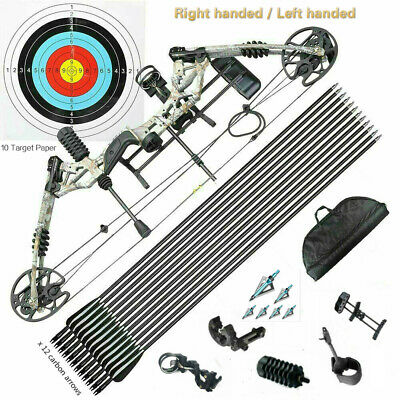 KM Compound Bow 20-60lbs Archery Bow Hunting Target Shooting Right Handed