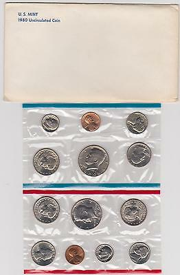 1980-P & D Uncirculated Coin United States Mint Set