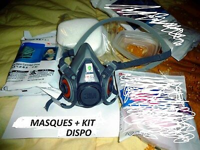 Masque 3m 6002 neuf ( + 14 accessoires inclu 2 FILTRES A1 ) 6002c