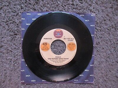 """Foghat """"step Outside (Edited Version)"""" 1974Stereo/mono Rare Oop Promo 7"""" Ex-"""