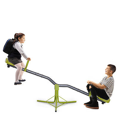 Kids Seesaw Swivel Teeter Totter 360 Degree Rotation Playground Equipment