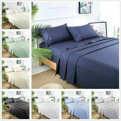 1000TC 4 Pieces Egyptian Cotton Bed Linen Sheets Sets Single/Double/Queen/King