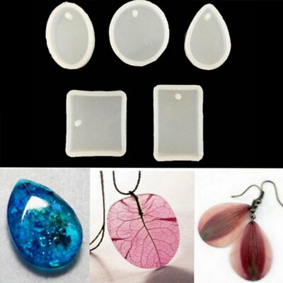 5X DIY Silicone Mold Pendant Jewelry Making Resin Casting Mould Crafts Handmade