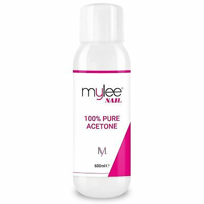 100% Pure Acetone Mylee  Nail Polish Remover High Quality for UV/LED Gel 600ml