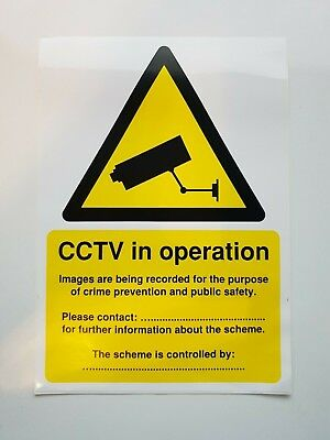 CCTV IN OPERATION, Data Protection Act Compliant Self-Adhesive Sign A5 [SR11219]