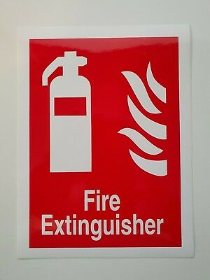 FIRE EXTINGUISHER, Self Adhesive, 200mm x 150mm, [FFO71]