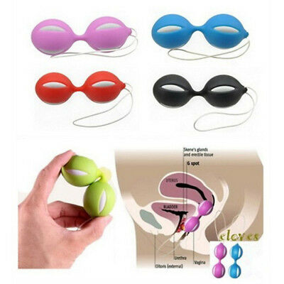 Duotone Ben Wa Ball On String Weighted Female Kegel Vaginal Tight Exercise Toy