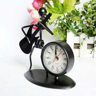 Iron Craft Musicial Instrument Gadget Table Desk Alarm Clock Decoration Craft