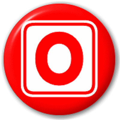 Block Letter O – 25 Mm Pin Button Badge
