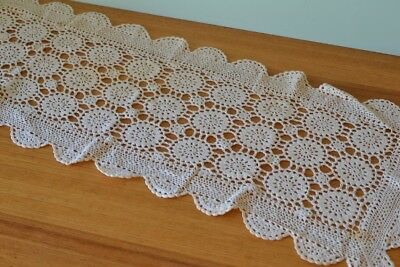 Vintage crotchet / lace  rectangle table runner  3195 No 535 pit2