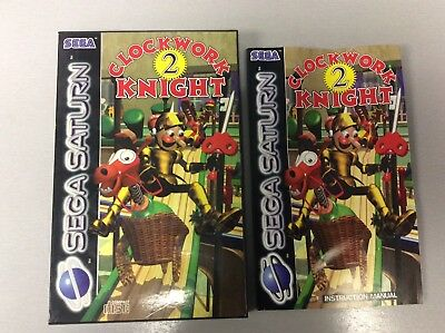 Sega Saturn Clockwork Knight 2 Case And Manual Only