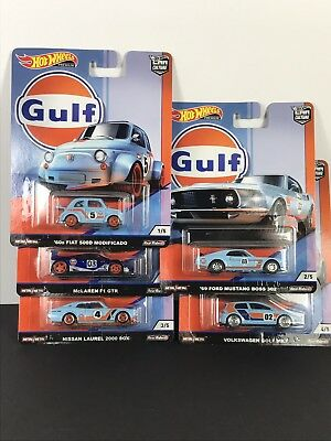 Hot Wheels 2019 Car Culture Gulf Racing Complete Set Of 2019 New ☝️