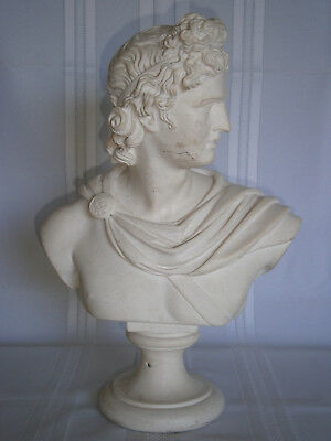 Large 4.8kg Antique Vintage Apollo Recomposed Stone Bust 1900's