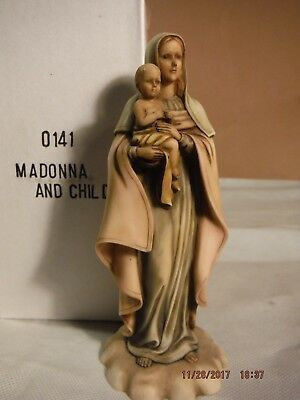 "New ""Madonna & Child"" Religious Ceramic Statue 7"" Tall Made by Shayrich Inc"