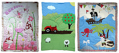 Traditional Handmade Cot Quilt or Play Mat & Carry Case Baby Boy/Girl Xmas gift