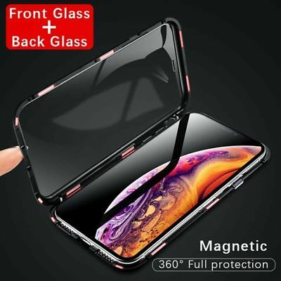 360 Full Magnetic Front + Back Tempered Glass Case for iPhone XS MAX XR 7 8 Plus