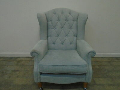 Laura Ashley Southwold Button Back Chair in Anneliese Seaspray - QA3001191153