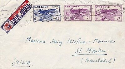 CAMEROON (M799)  1946 cover st. air mail to SWITZERLAND