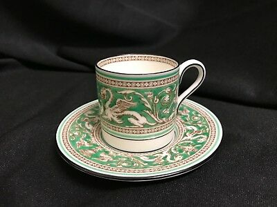 Wedgwood Florentine Green Demitasse Cup and Saucer (multi avail)