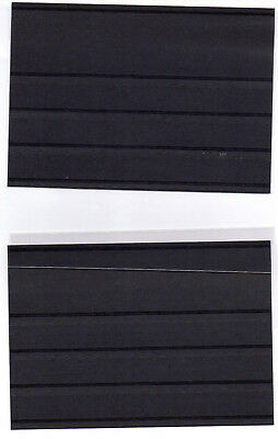 5 New Black  Stamp Stock Cards 4-Pocket Style Stamp Display Cards Plastic Cover