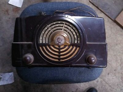 Vintage Zenith Tone Register Tube Radio Bakelite Case Model Table Top Radio