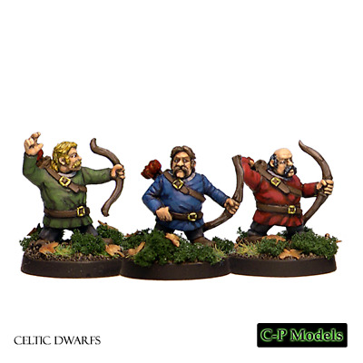CDF12 CP Models 28mm Fantasy Celtic Dwarf archers