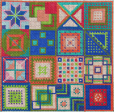 HP Needlepoint 18ct MAGGIE Quilt-JP48