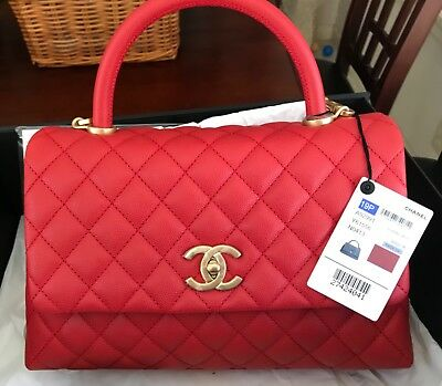 16bc0690cf640c CHANEL COCO HANDLE Small Red Caviar Bag BNWT - $4,500.00 | PicClick