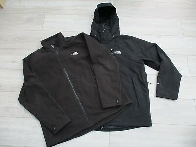 The North Face Mens Atlas 3in1 Triclimate Jacket Hyvent Waterproof XXL Black 3c1e33572