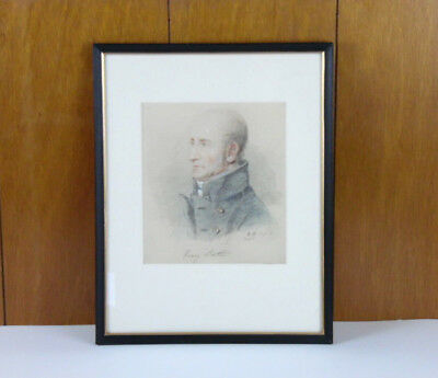 Antique English Pastel Henry Butler Art Print Artist Proof Signed Framed c1820