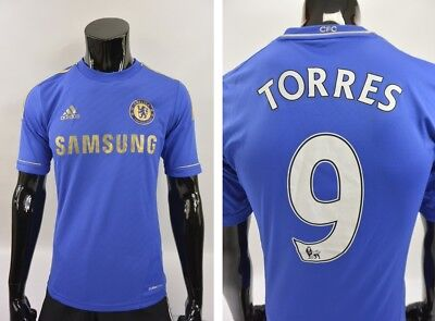 The Blues 2012-2013 adidas Chelsea FC Home Shirt TORRES 9 Jersey SIZE S (adults)