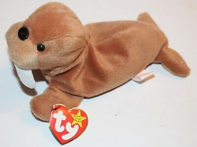 Tusk the Walrus Beanie Baby Hang Tag 4th Generation Tush TY Retired Babies 0567368d7b2c