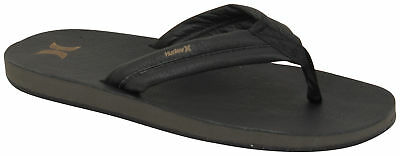 460032e7e NEW MENS 8 Hurley Phantom Free Elite Sandals Thongs Black Leather ...