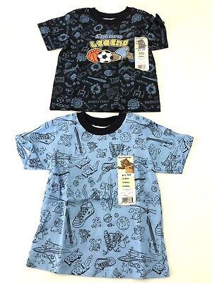 NWT Set of 2 Garanimals Boys Sz 18 Months Sports Theme Short Sleeve Shirts (B#4