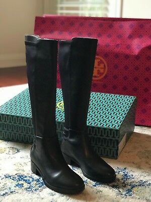 141cf7063d2e NIB  400 Tory Burch Black Caitlin Stretch Boot Misa Calf Neoprene Size 6 M