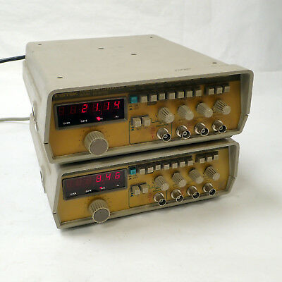 Lot of 2 INSTEK FG-8016G FUNCTION GENERATOR PULSE FREQUENCY COUNTER 0.02Hz-2MHz