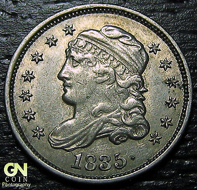 1835 Capped Bust Half Dime R1 V3 LM3  --  MAKE US AN OFFER!  #O5714