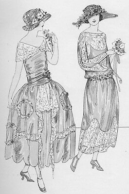 1922 Dressmaking Design Fashion Book Flapper Hats Couture Sewing Womans Institue