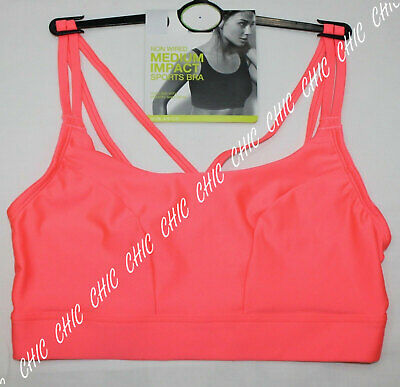 M&S Lingerie Non Wired Medium Impact Sports & Yoga Bra With Strappy Back BNWT