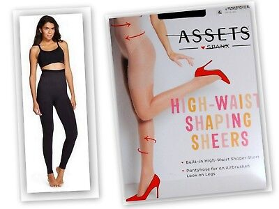 7e1a9521a87 HIGH WAIST SHAPING Sheers Size 1 Black SPANX ASSETS Shaping Short ...