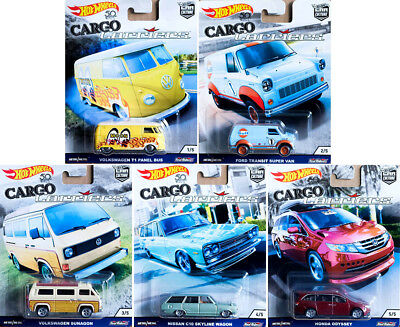 Cargo Carriers Car Culture Set 5 Modelle VW Ford Nissan 1:64 Hot Wheels FPY86