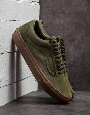 26a15cff150 Vans OLD SKOOL CANVAS and leather Shoes Size WOMEN S 9  65 Winter Moss