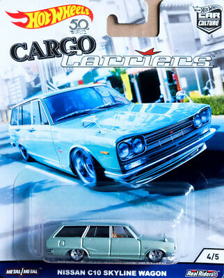 Nissan C10 Skyline Wagon Cargo Carriers Car Culture 1:64 Hot Wheels FLC10 FPY86