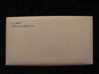 1979 P&D US Mint Uncirculated Set.    Envelope of Issue.   12 Coin Set      #MF