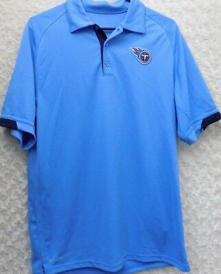 75051dfc4 Nike Dri Fit NFL On Field Tennessee Titans Polo Shirt Men s Small S Blue