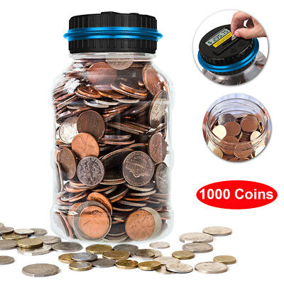 Hot Electronic LCD Counting Coin Piggy Bank Lock Safe Box  Kids Toy Charm Gifts