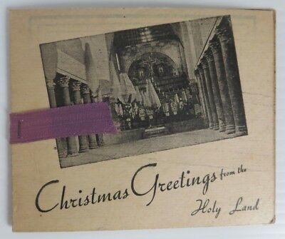 Vintage Christmas Card From The Holy Land                      (Inv21455)
